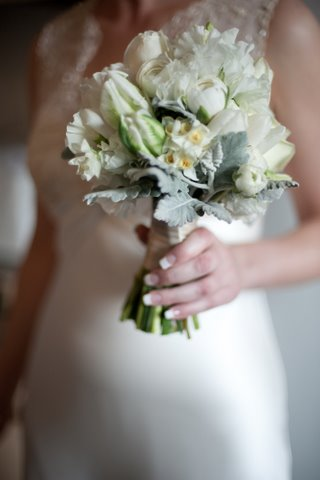 bridal bouquet white flowers