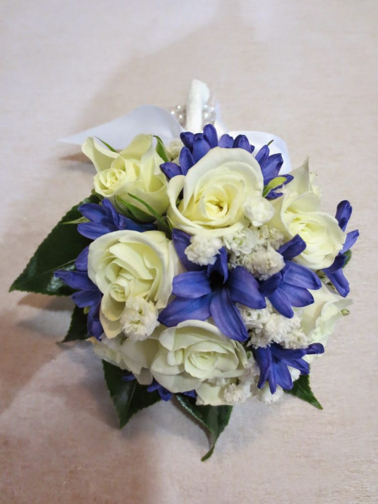 #3 Miniature Rose, Hyacinth Floret, Gypsophila $75