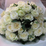 White scented rose bouquet