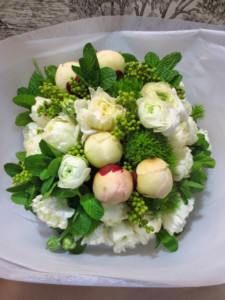 Peony and Tulip feature in this bouquet $120