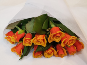 Orange Rose Bunch