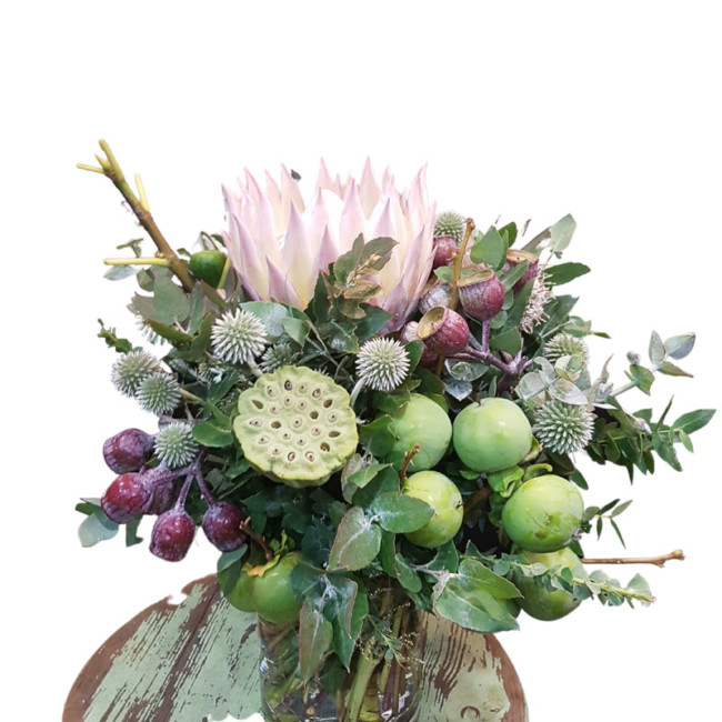 Protea and Persimmons
